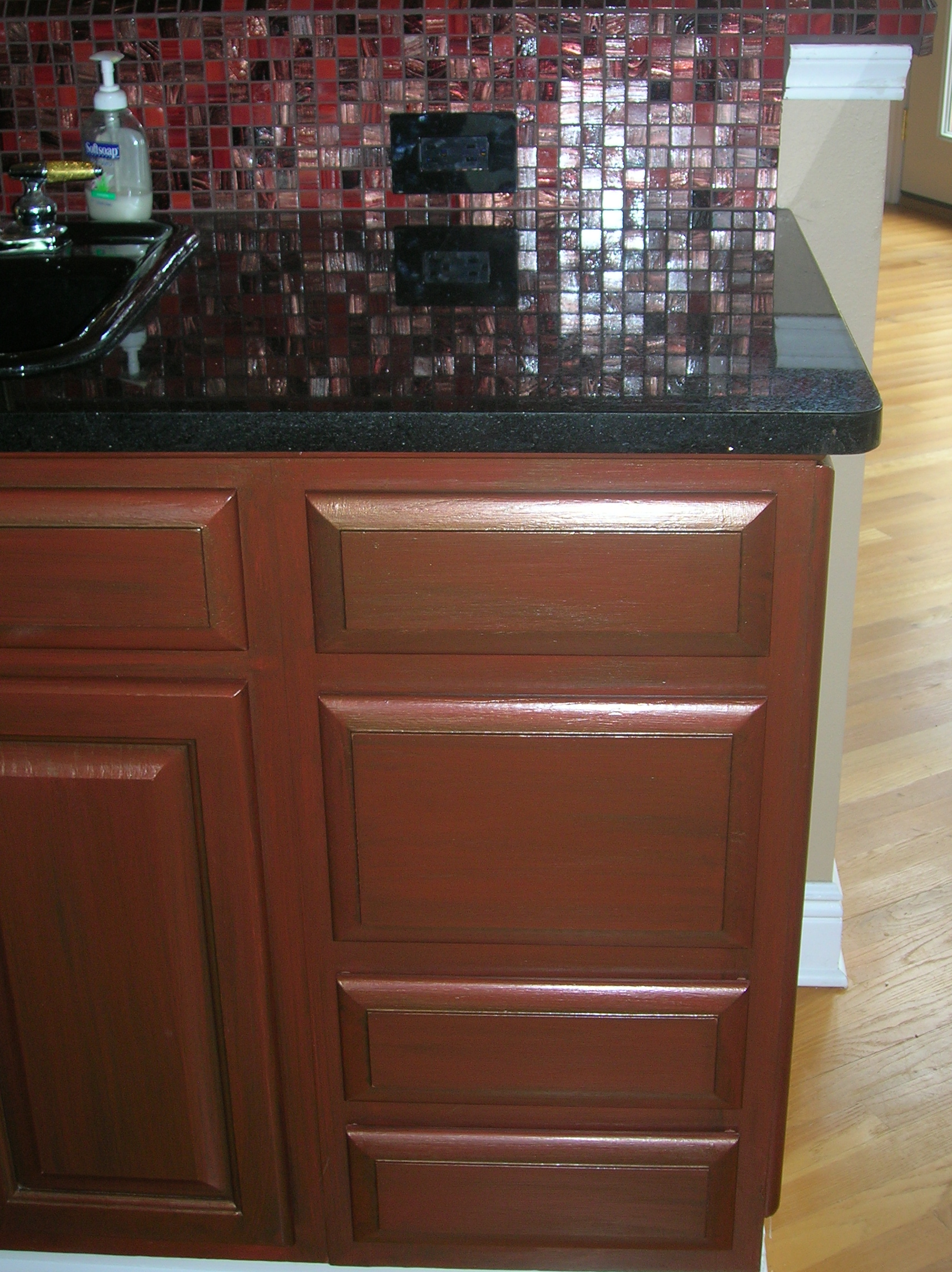 kitchen cabinets, metallic cabinets, glazed cabinets