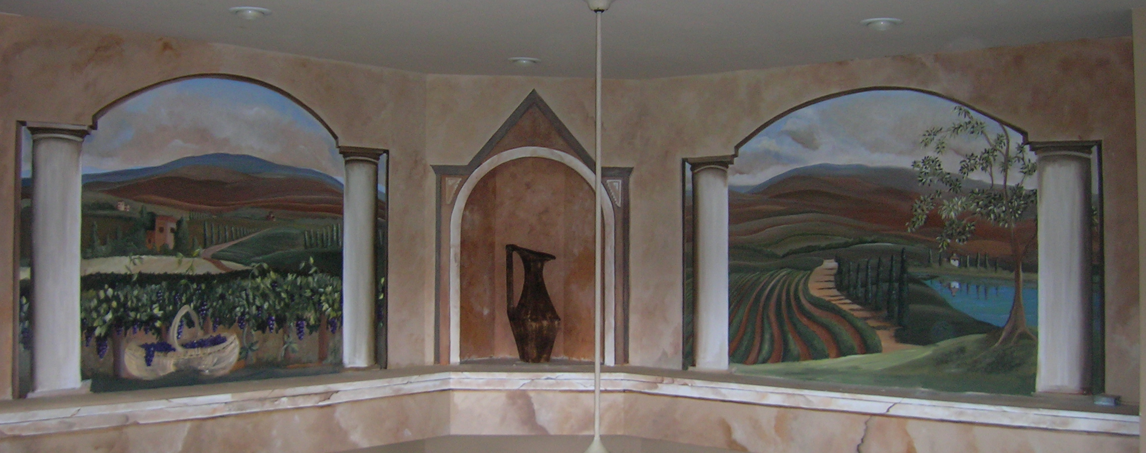 Murals patricia delaney tuscany mural amipublicfo Image collections